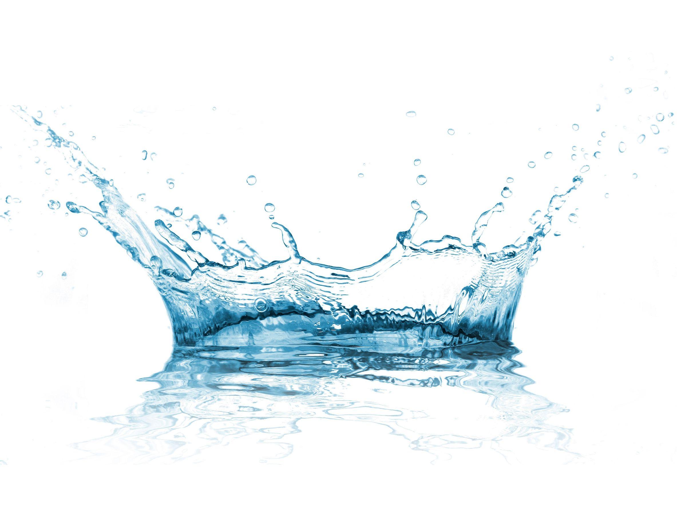 16309060 - water splash over white background